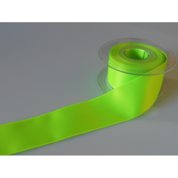 Satin bånd - Neon grøn satin bånd - nr 996
