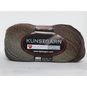 Hjertegarn Kunstgarn - Flerfarvet Uldgarn