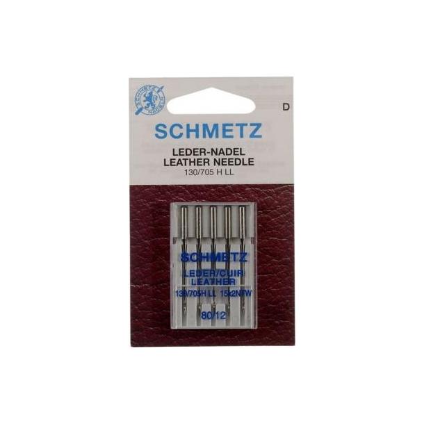 Schmetz læder symaskinnåle - Flad kolbe - 80/12