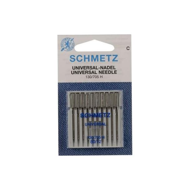 Schmetz universal symaskinnåle - Flad kolbe - 80/12