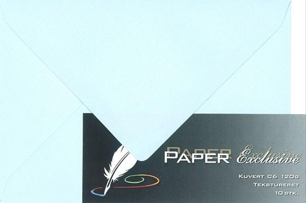 Image of Kuvert/konvolut - Tekstureret 120 g Babyblå