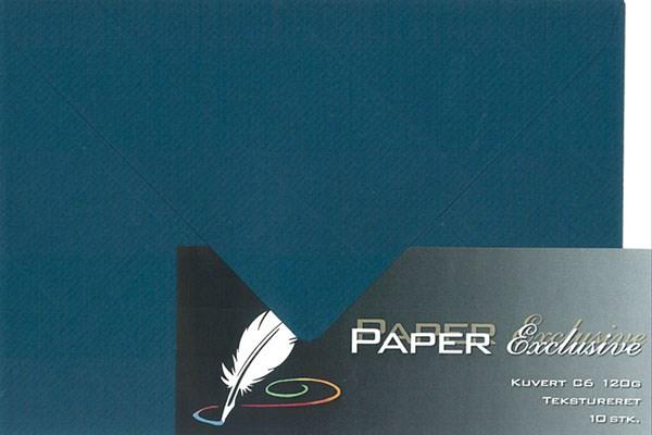 Image of Kuvert/konvolut - Tekstureret 120 g Mørkeblå