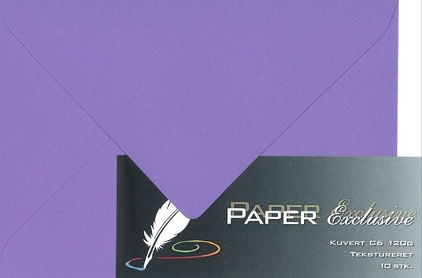 Image of Kuvert/konvolut - Tekstureret 120 g Mørk Lilla