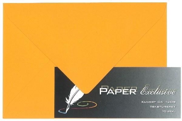 Image of Kuvert/konvolut - Tekstureret 120 g Orange