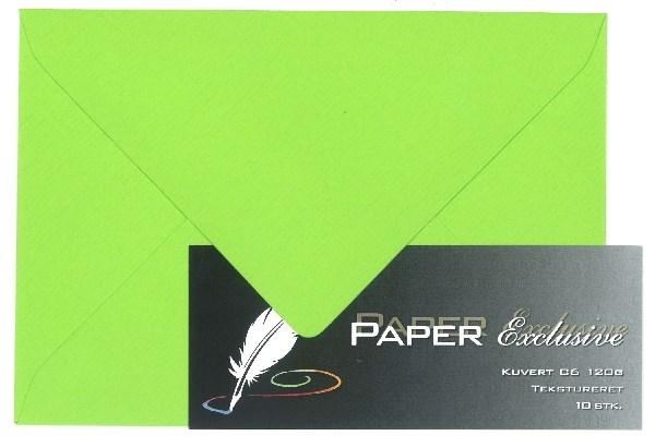 Image of Kuvert/konvolut - Tekstureret 120 g Lime