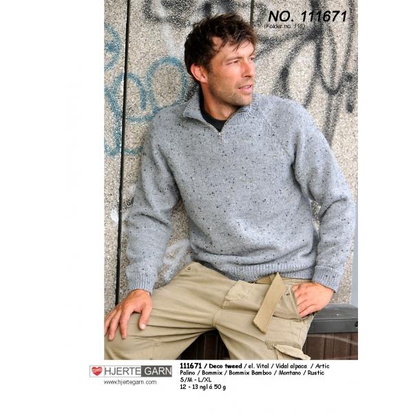 Herre strik med Deco Tweed - Strikkekit