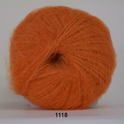 Image of Hjertegarn Silk Kid Mohair Garn - fv 1118 Orange
