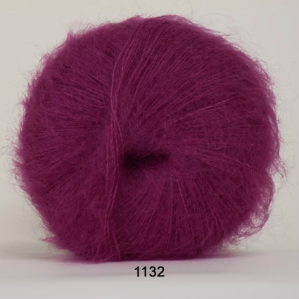 Image of Hjertegarn Silk Kid Mohair Garn - fv 1132 Mørk Pink