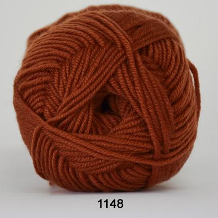Image of Hjertegarn Extrafine Merino 120 Garn - fv 1148 Rust Rød
