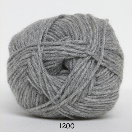 Image of Hjertegarn Ciao Trunte - 100% Merino Uld Superwash fv 1200 Lys Grå