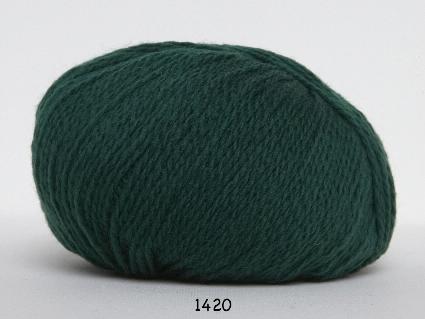 Image of Hjerte Fine Highland Wool - Uldgarn - Hjertegarn - fv 1420 Mørk Grøn