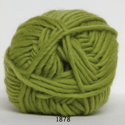 Image of Hjertegarn Natur Uld Garn - fv 1878 Lime Grøn