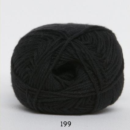 Image of Cotton nr. 8 - Bomuldsgarn - Hæklegarn - fv 199 Sort