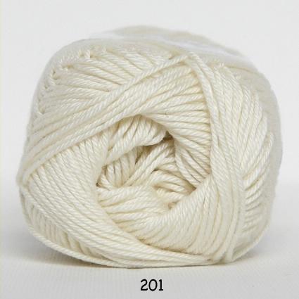 Image of Hjertegarn Diamond Cotton - merceriseret bomuld - fv 201 Råhvid