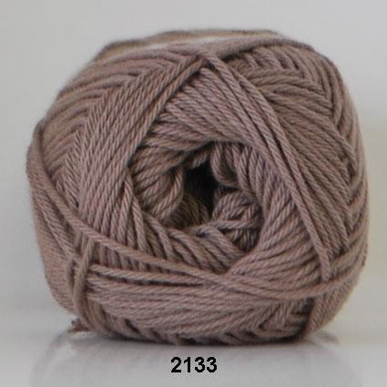 Image of Cotton nr. 8- Bomuldsgarn - Hæklegarn - fv 2133 Lyse Brun