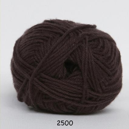 Image of Cotton nr. 8 - Bomuldsgarn - Hæklegarn - fv 2500 Mørke Brun