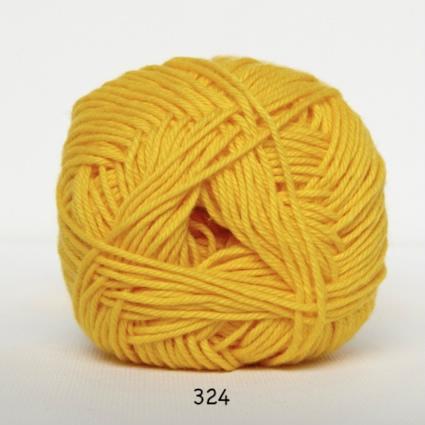 Image of Cotton nr. 8 - Bomuldsgarn - Hæklegarn - fv 324 Gul