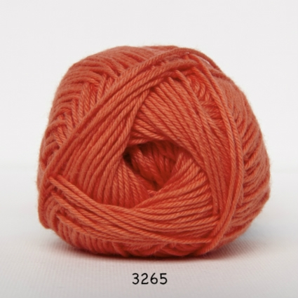 Image of Cotton nr. 8 - Bomuldsgarn - Hæklegarn - fv 3265 Koral