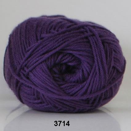 Image of Cotton nr. 8 - Bomuldsgarn - Hæklegarn - fv 3714 Ekstra Mørk Lilla