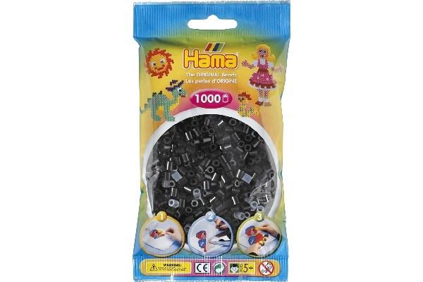 Image of Hama midi perler - 207 - 18 - Sort - 1000 stk