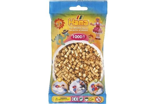 Image of Hama midi perler - 207-61 - Guld - 1000 stk