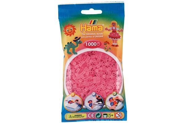 Image of Hama midi perler - 207-72 Trans Pink - 1000 stk