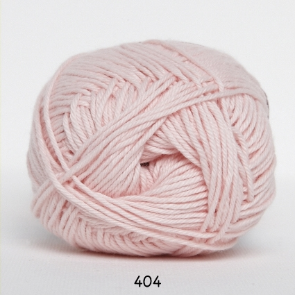 Image of Cotton nr. 8- Bomuldsgarn - Hæklegarn - fv 404 Sart Lyserød
