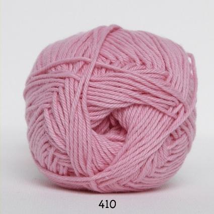 Image of Cotton nr. 8 - Bomuldsgarn - Hæklegarn - fv 410 Baby Lyserød