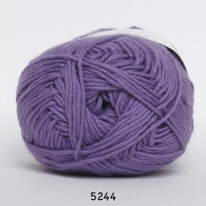 Image of Cotton nr. 8 - Bomuldsgarn - Hæklegarn - fv 5244 Mørk Lavendel
