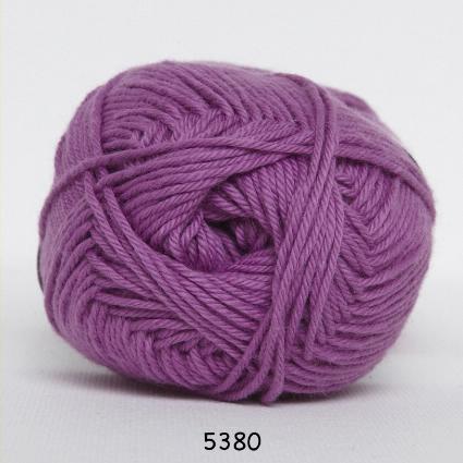 Image of Cotton nr. 8- Bomuldsgarn - Hæklegarn - fv 5380 Rød Lilla