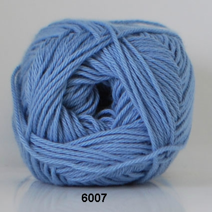 Image of Cotton nr. 8 - Bomuldsgarn - Hæklegarn - fv 6007 Himmel Blå