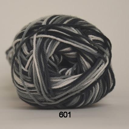 Image of Cotton nr. 8- Bomuldsgarn - Hæklegarn - fv 601 Flerfarvet