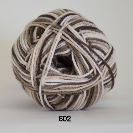 Image of Cotton nr. 8- Bomuldsgarn - Hæklegarn - fv 602 Flerfarvet