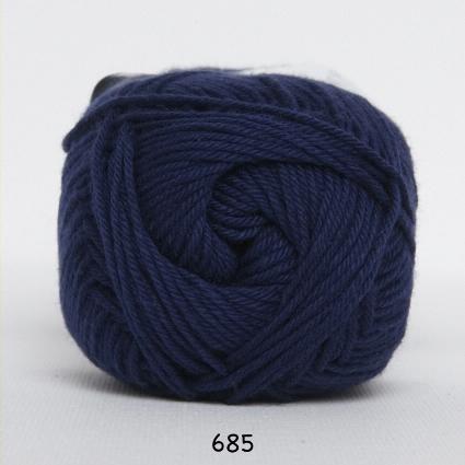 Image of Cotton nr. 8 - Bomuldsgarn - Hæklegarn - fv 685 Mørk Blå