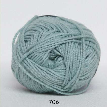 Image of Cotton nr. 8 - Bomuldsgarn - Hæklegarn - fv 706 Due Blå