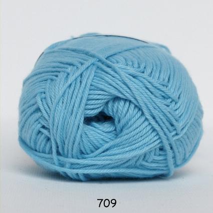 Image of Cotton nr. 8 - Bomuldsgarn - Hæklegarn - fv 709 Lus Turkis