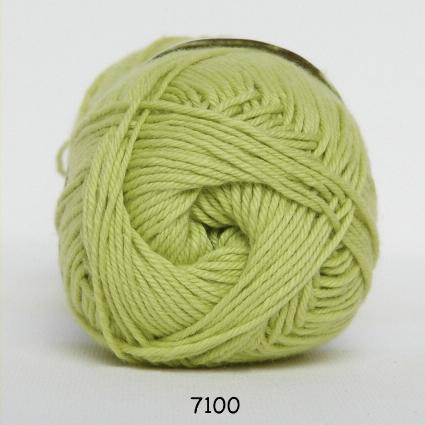 Image of Cotton nr. 8 - Bomuldsgarn - Hæklegarn - fv 7100 Lime Grøn