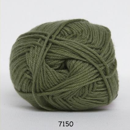 Image of Cotton nr. 8- Bomuldsgarn - Hæklegarn - fv 7150 Jagt Grøn