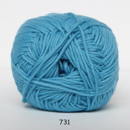 Image of Cotton nr. 8- Bomuldsgarn - Hæklegarn - fv 731 Turkis