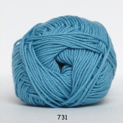 Image of Hjertegarn Diamond Cotton - merceriseret bomuld - fv 731 Turkis
