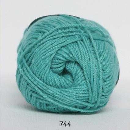 Image of Cotton nr. 8- Bomuldsgarn - Hæklegarn - fv 744 Turkis Grøn