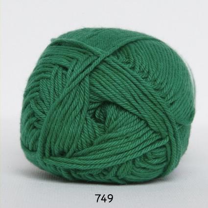 Image of Cotton nr. 8 - Bomuldsgarn - Hæklegarn - fv 749 Græs Grøn