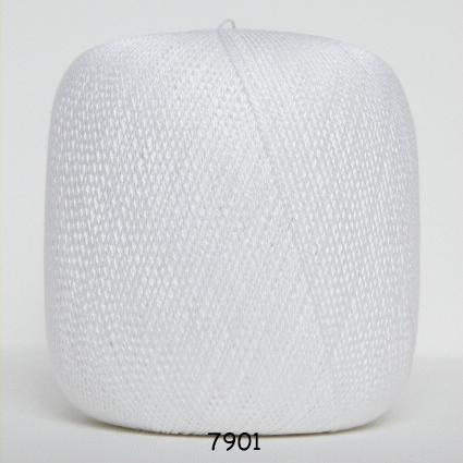 Image of Hjerte nr 8 100% merceriseret bomuld fv 7901 Hvid
