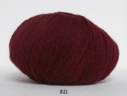 Image of Hjerte Fine Highland Wool - Uldgarn - Hjertegarn - fv 821 Vin Rød