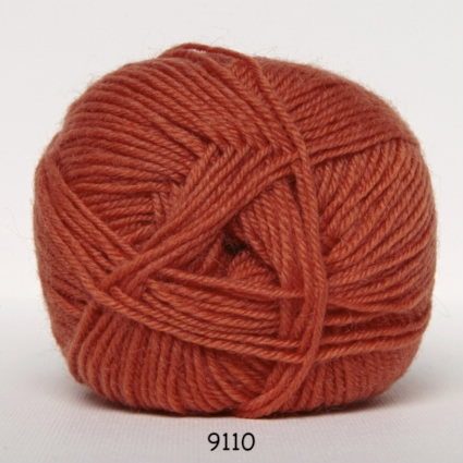 Image of Sock 4 - Strømpegarn - Uldgarn - fv 9110 Orange