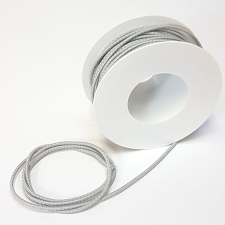 Image of Rund elastik - 3 mm Anorak elastik m/refleks Hvid