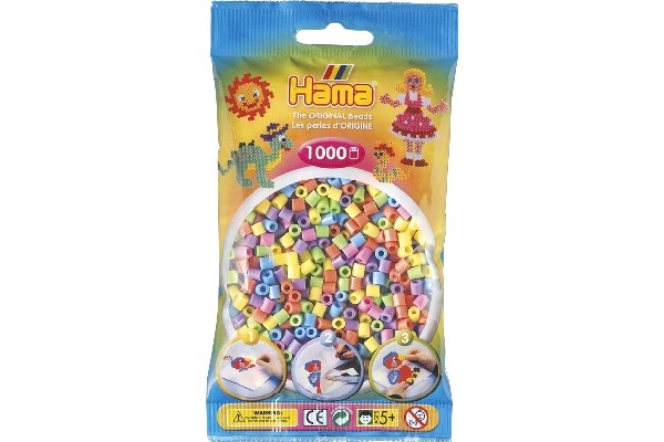 Image of Hama midi perler - 207-50 - Pastel Mix - 1000 stk