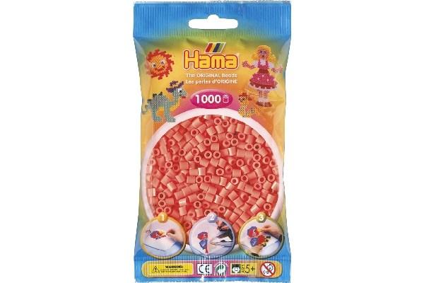 Image of Hama midi perler - 207-44 - Pastel Rød - 1000 stk