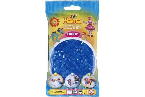 Image of Hama midi perler - 207-15 - tr Blå - 1000 stk