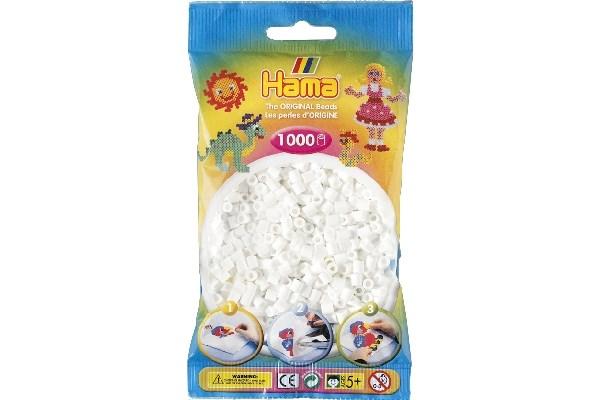 Image of Hama midi perler - 207-01 - Hvid - 1000 stk